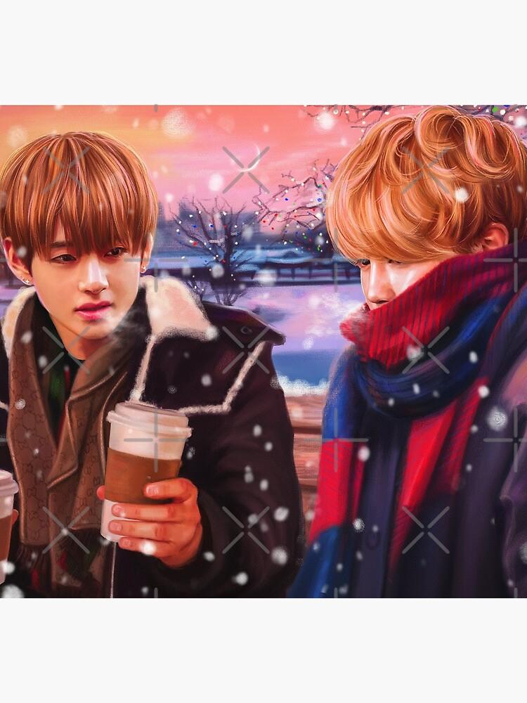 Jimin & Taehyung Fanart von Ellen-Drawings