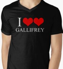 I Heart Heart Gallifrey Men's V-Neck T-Shirt