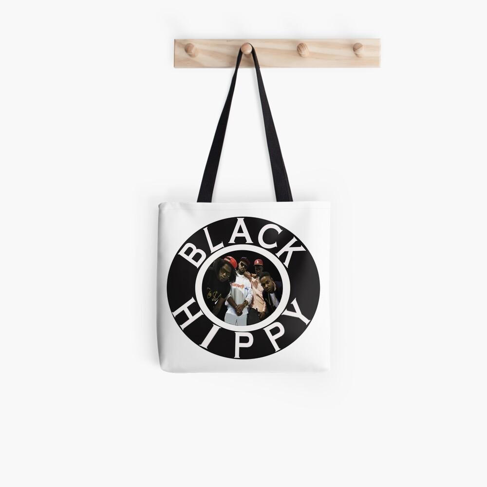Schwarze Hippie Stofftasche