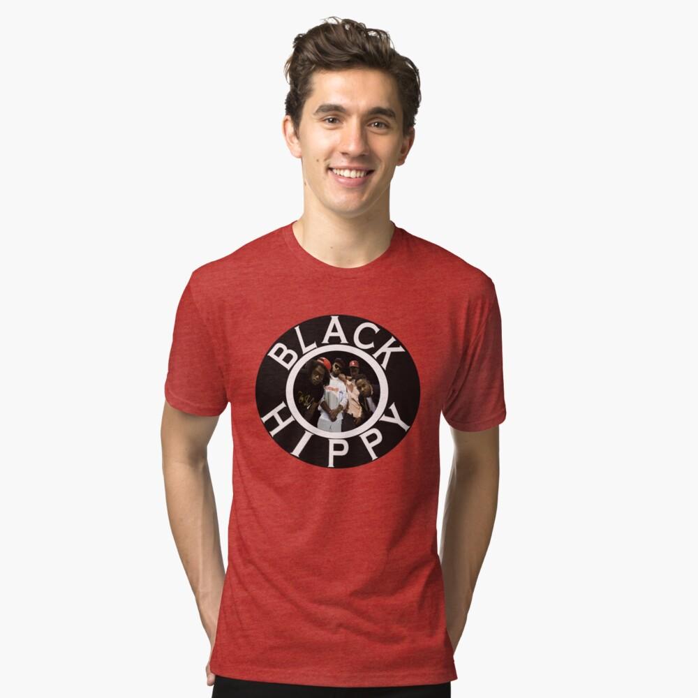 Schwarze Hippie Vintage T-Shirt