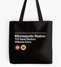 Minneapolis (Univ. of Minnesota) Sports Venue Subway Sign Tote Bag
