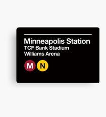 Minneapolis (Univ. of Minnesota) Sports Venue Subway Sign Canvas Print