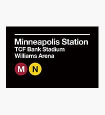 Minneapolis (Univ. of Minnesota) Sports Venue Subway Sign Photographic Print
