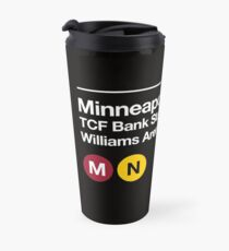 Minneapolis (Univ. of Minnesota) Sports Venue Subway Sign Travel Mug
