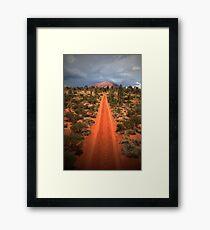 A track leading back... Framed Print