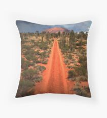 A track leading back... Throw Pillow