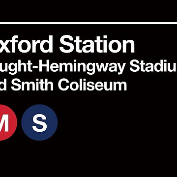 Oxford, Mississippi (Ole Miss) Sports Venues Subway Sign by phoneticwear