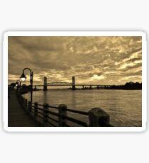 Riverfront At Dusk Sticker