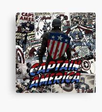 Captain Collage Canvas Print