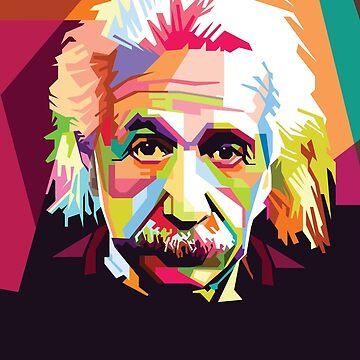 Colorful Einstein by lifeasawriter