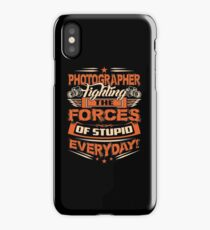 PHOTOGRAPHER FIGHTING THE FORCES iPhone Case/Skin
