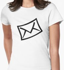 Letter mail envelope icon Womens Fitted T-Shirt