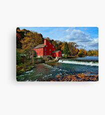 The Historic Red Mill of Clinton NJ Canvas Print