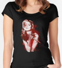 Splatter Buffy Women's Fitted Scoop T-Shirt