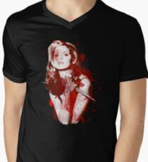 Splatter Buffy Men's V-Neck T-Shirt