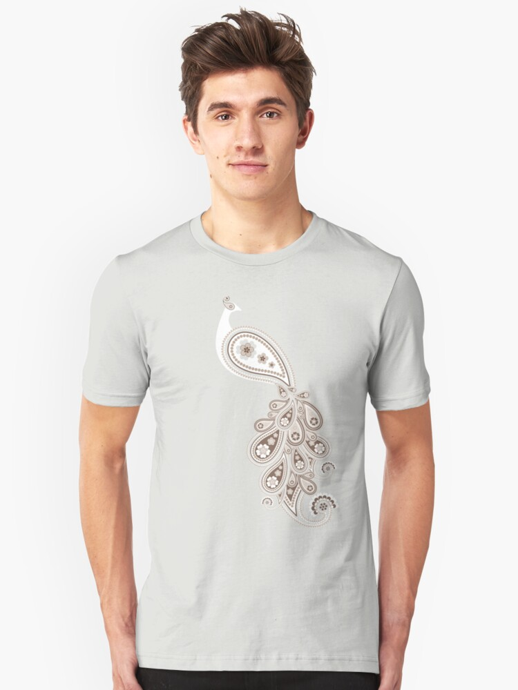 Paisley Peacock 2 Unisex T-Shirt Front