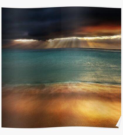 Land Sea Sky I Poster