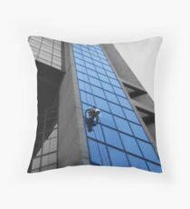 Window Washer Throw Pillow