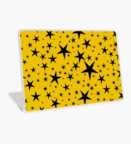 NDVH Stars (black on gold) Laptop Skin