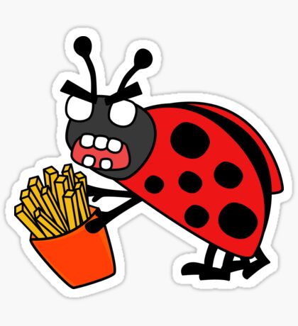 angry zombie ladybug  Glossy Sticker