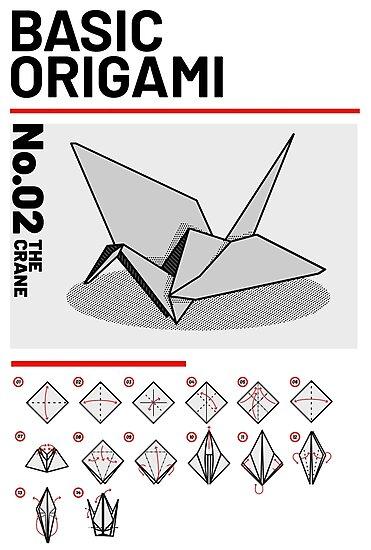 Grundlegende Origami Anleitung Kranich Fotodrucke Von Lalamb