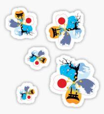 Japan Flower- Multi Sticker