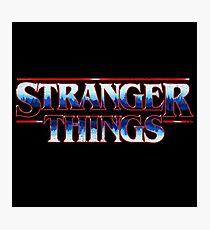 Stranger Things 80s Logo Photographic Print