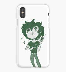 Green Telephone Boy iPhone Case/Skin
