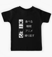 Eat Sleep Anime Repeat Anime Lovers Funny Quote Life T-Shirt Kids Clothes