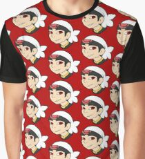 Pokemon Trainer Ruby Bust Graphic T-Shirt
