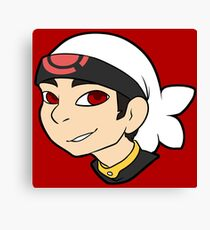 Pokemon Trainer Ruby Bust Canvas Print