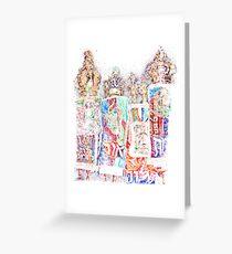 Four Torahs Greeting Card