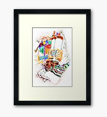 Closed Torah with Colorful Cover Framed Print