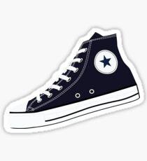 All Star Inspired Hi Top Retro Sneaker in Navy Blue Sticker