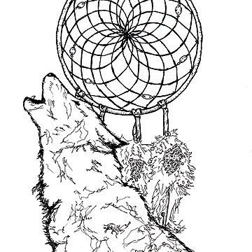 Wolf catcher b&w by ommadon