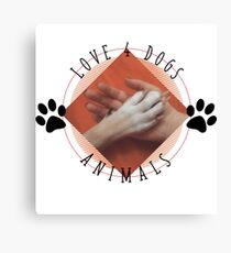Love for Dogs Animals  Canvas Print