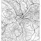 Pittsburgh Map Minimal by HubertRoguski