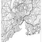 New Haven Map Minimal by HubertRoguski