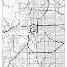 Tulsa Map Minimal by HubertRoguski