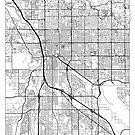 Tucson Map Minimal by HubertRoguski