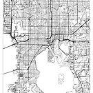 Tampa Map Minimal by HubertRoguski