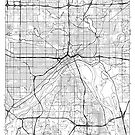 St Paul Map Minimal by HubertRoguski