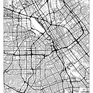 San Jose Map Minimal by HubertRoguski
