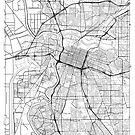 Sacramento Map Minimal by HubertRoguski