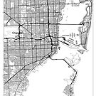 Miami Map Minimal by HubertRoguski