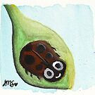 Cheerful Ladybug by JillPillDesign