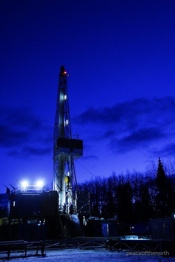 Drilling at Dawn by peaceofthenorth