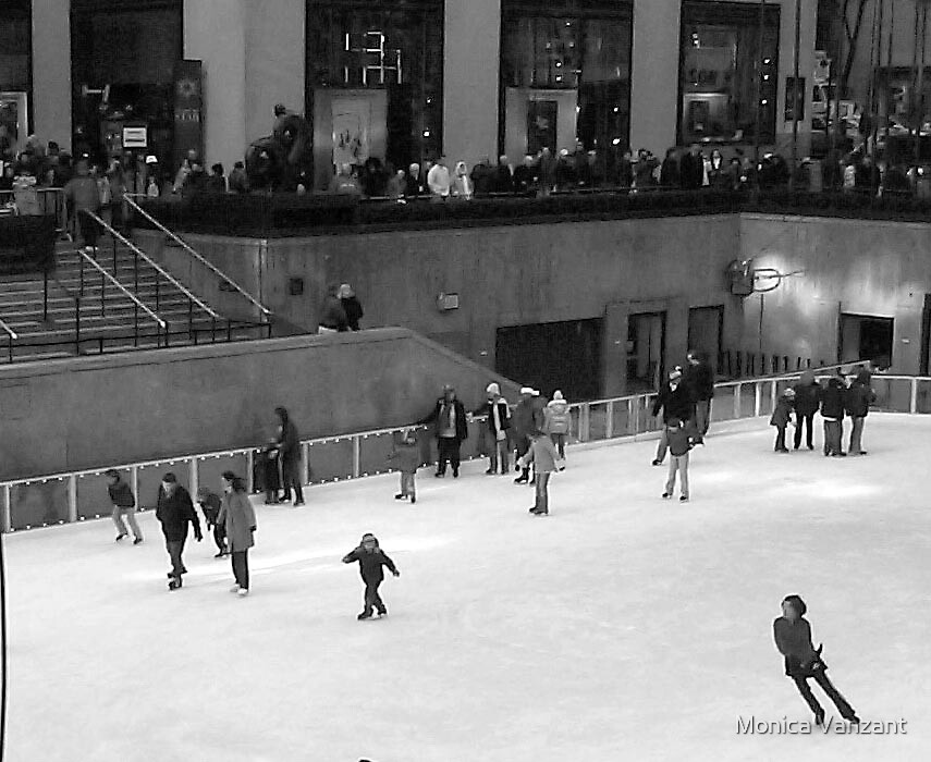 Ice Skating at Christmas In Times Square 2005 by Monica Vanzant