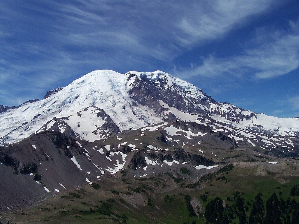 Mount Rainier In Summer by KGMiller