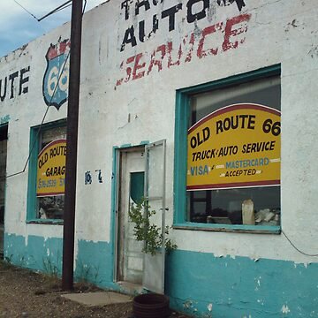 Old Route 66 Garage New Mexico by spiritofroute66